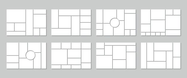 Modèle de conseil d'humeur. grille de collage de photos.