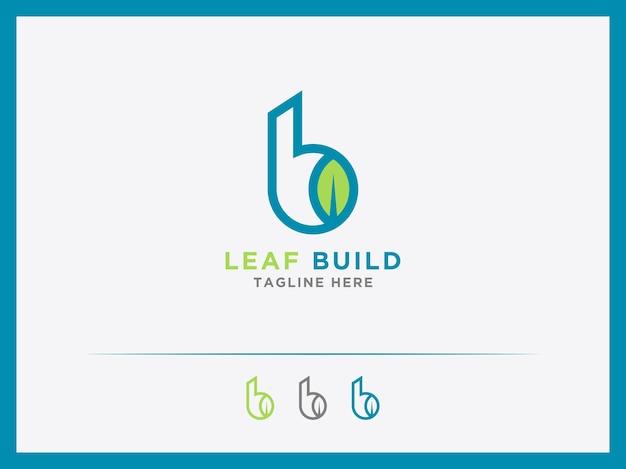 Modèle construction logo b symboles immobiliers ou bâtiments de serre