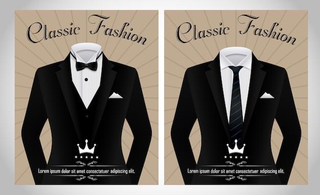 Modèle de costume d'affaires