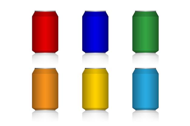 Modèle de couleur de canettes
