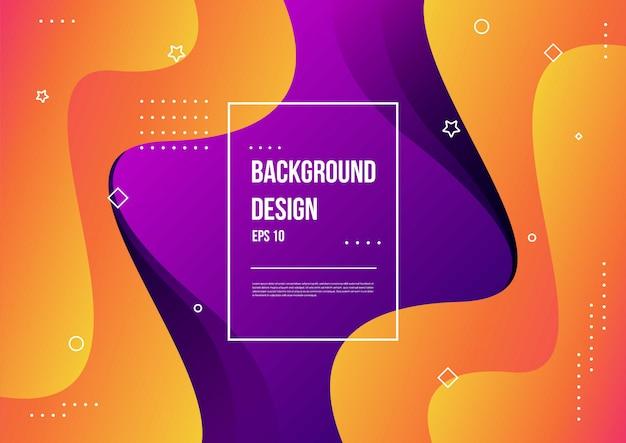 Modèle de couleur fluide abstraite de fond dégradé liquide de couleur néon avec style de mouvement dynamique géométrique moderne adapté au papier peint, bannière, arrière-plan, carte, illustration de livre, page de destination