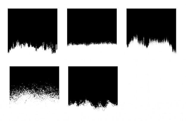 Modèle de coup de pinceau grunge noir