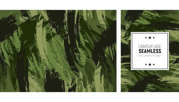 Modèle de coup de pinceau sans soudure. fond moderne de camouflage