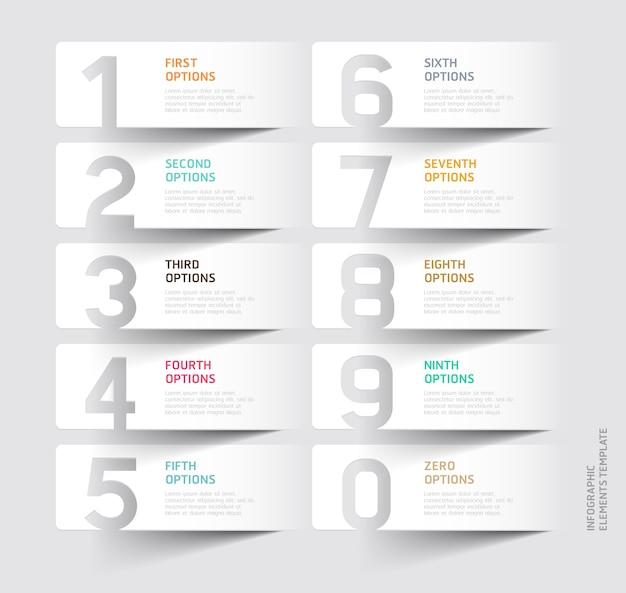 Modèle de coupe de papier numéro