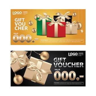 Modèle de coupon de bon cadeau pour votre illustration d'entreprise