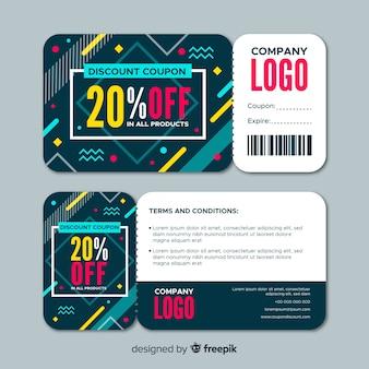 Modèle de coupon en vente