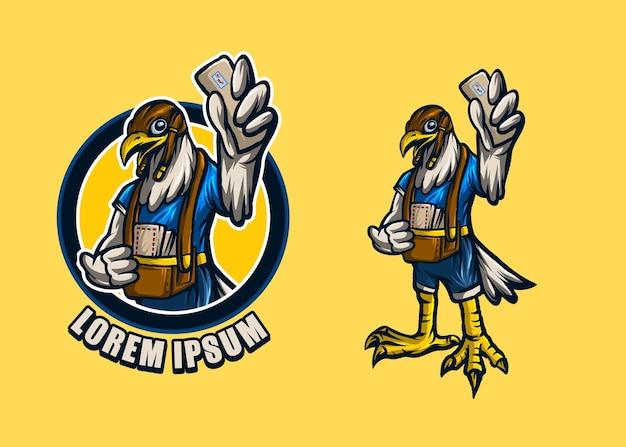 Modèle de courrier aérien mascotte faucon