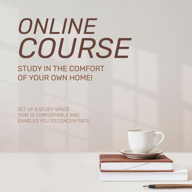 Modèle de cours en ligne technologie future