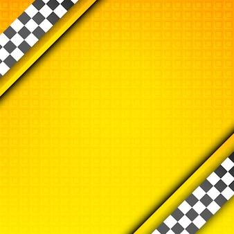 Modèle de course, toile de fond de taxi