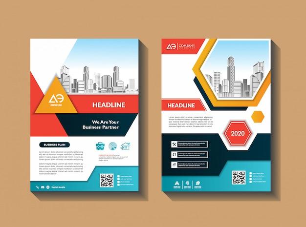 Modèle de couverture a4 taille brochure commerciale rapport annuel