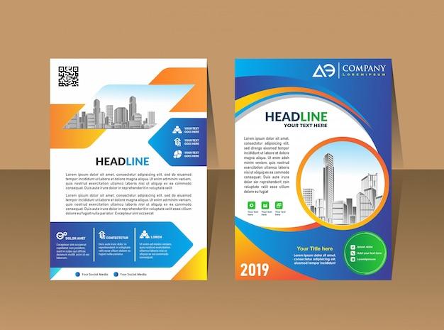 Modèle de couverture a4 taille business brochure design
