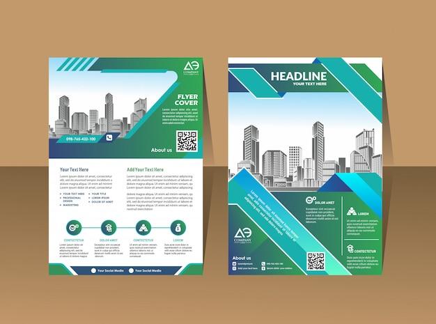 Modèle de couverture a4 tailles conception de la brochure