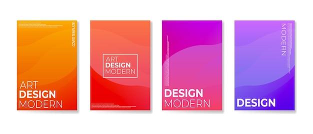 Modèle de couverture abstraite avec une couleur dégradée douce