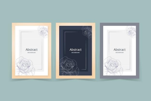 Modèle de couverture d'art floral