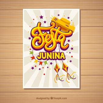 Modèle de couverture blanche pour festa junina