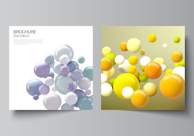 Modèle de couverture de brochure avec des ballons colorés