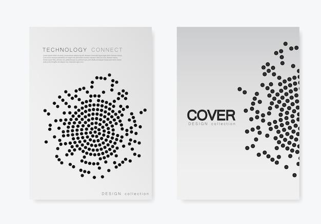 Modèle de couverture de brochure avec demi-teintes