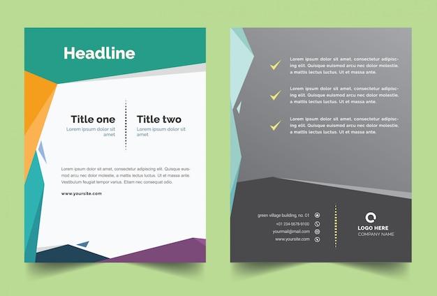 Modèle de couverture de brochure avec un design polygonal