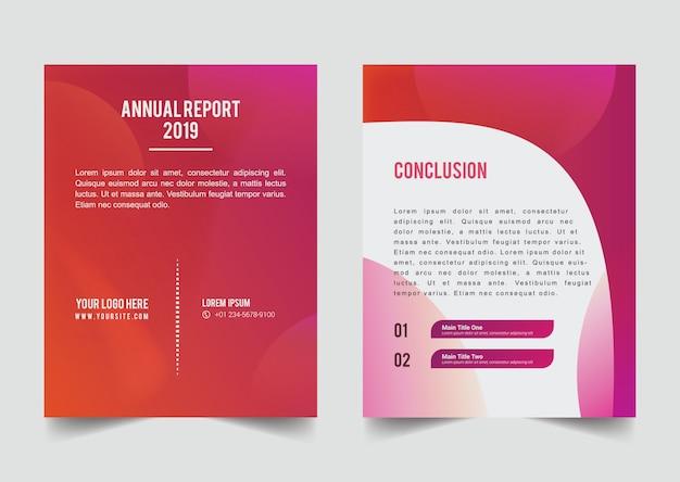 Modèle de couverture de brochure avec gradation