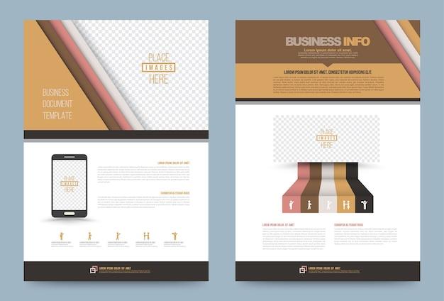 Modèle de couverture de brochure