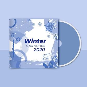 Modèle de couverture de cd d'hiver