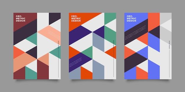 Modèle de couverture de conception avec forme géométrique