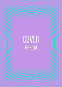 Modèle de couverture cool. vecteur tendance minimal avec des dégradés de demi-teintes. modèle de couverture géométrique cool pour flyer, affiche, brochure et invitation. formes colorées minimalistes. illustration abstraite.