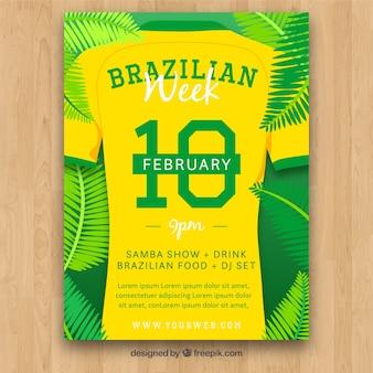 Modèle de couverture créative de carnaval brésilien