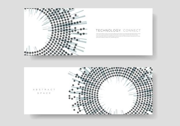 Modèle de couverture avec un design en demi-teinte. rapport annuel, bannière ou présentation