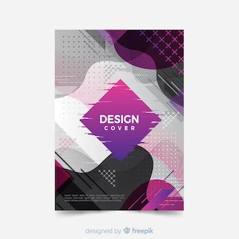 Modèle de couverture avec dessin abstrait