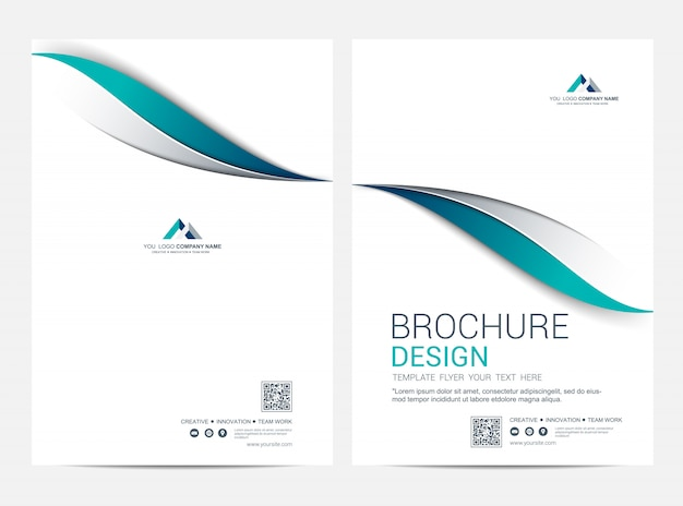 Modèle de couverture et de dos, modèle minimal corporatif