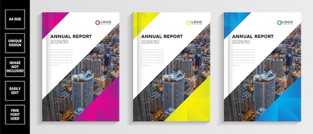 Modèle de couverture du rapport annuel