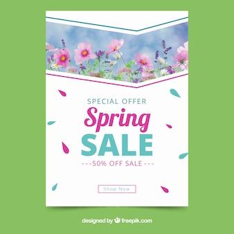 Modèle de couverture élégante pour les ventes de printemps