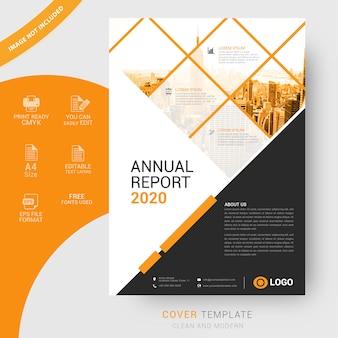 Modèle de couverture d'entreprise au format a4