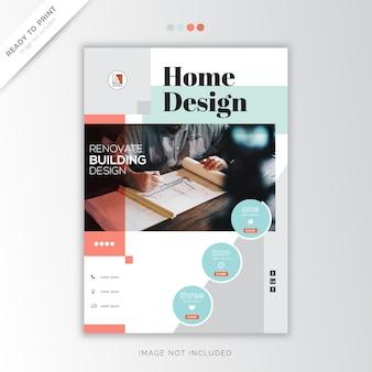 Modèle de couverture d'entreprise home design