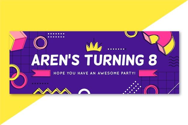 Modèle de couverture facebook d'anniversaire