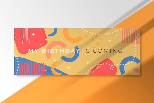 Modèle de couverture facebook anniversaire