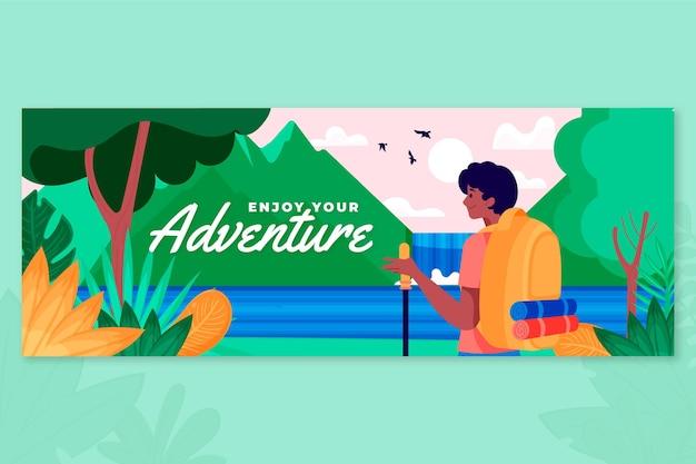 Modèle de couverture facebook aventure