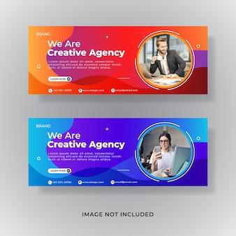 Modèle de couverture facebook d'entreprise