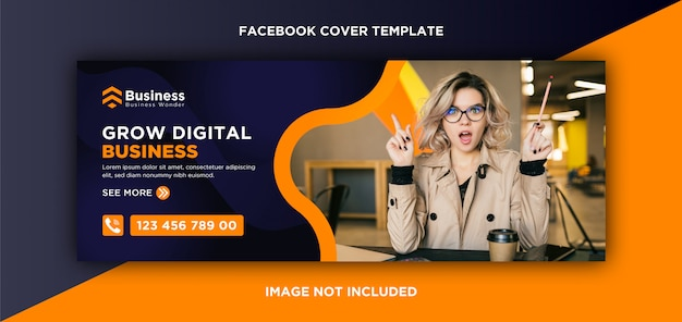 Modèle de couverture facebook moderne
