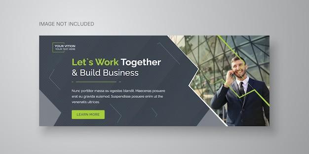 Modèle de couverture facebook de promotion de marketing d'entreprise et d'entreprise numérique vecteur premium