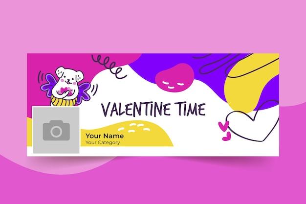Modèle de couverture facebook saint valentin