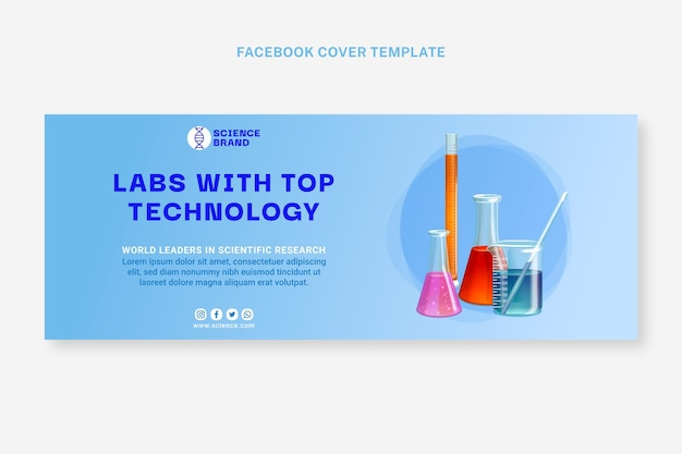 Modèle de couverture facebook science réaliste
