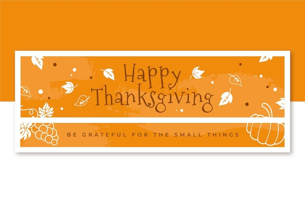 Modèle de couverture facebook de thanksgiving