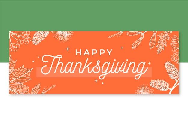 Modèle de couverture facebook de thanksgiving