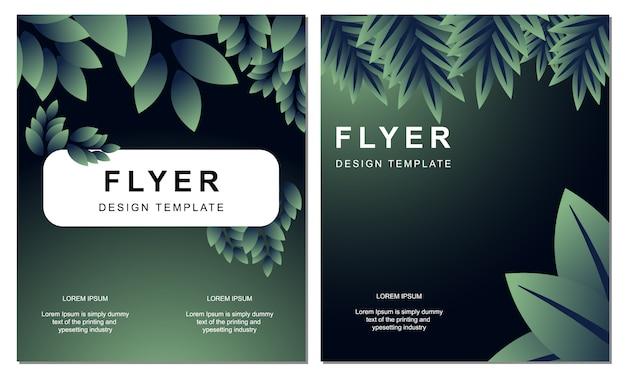 Modèle de couverture de feuille naturelle flyer