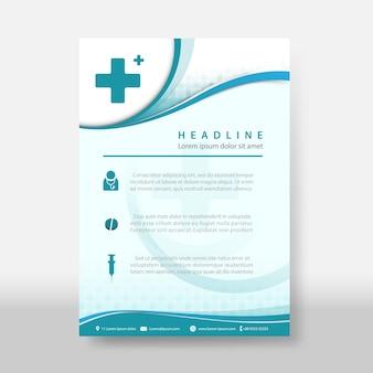 Modèle de couverture flyer & poster de médecine et science