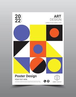 Modèle de couverture géométrique abstraite moderne.