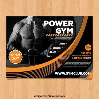 Modèle de couverture de gym avec image