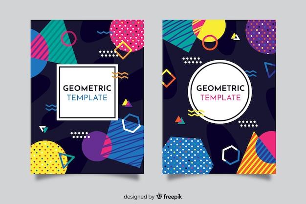 Modèle de couverture avec jeu de conception géométrique